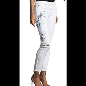 7 For All Mankind hand painted skinny jeans 29